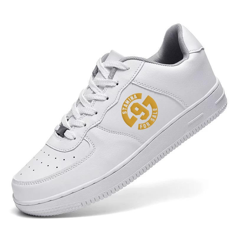 PREORDER - Stamina for Sale Trainer - White with Gold Print
