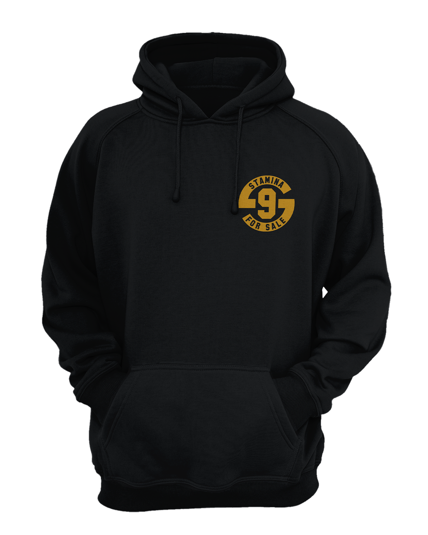Hoodie in Black with Metallic Gold Print - Original
