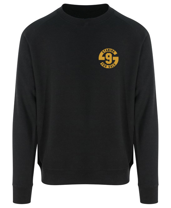 Jumper in Black with Metallic Gold Print - Original