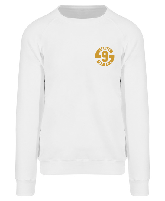 Jumper in White with Metallic Gold Print - Original