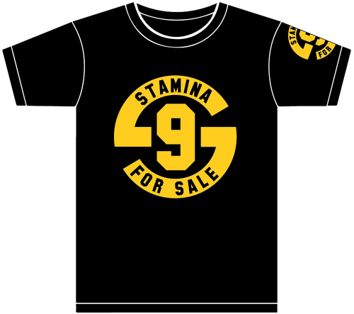 Stamina for Sale: Adult Short Sleeve T-Shirt - Black and Gold