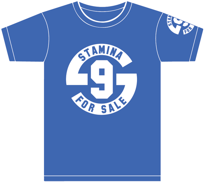 Stamina for Sale: Adult Short Sleeve T-Shirt - Royal Blue with White Logo