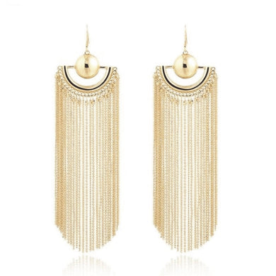 B  Beyonce Tassel drop earings - Divinesolutions