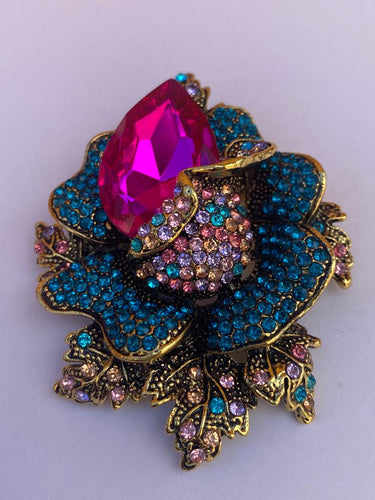Colourful Rose Brooch