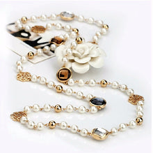 Long simulated Pearl necklace - Divinesolutions