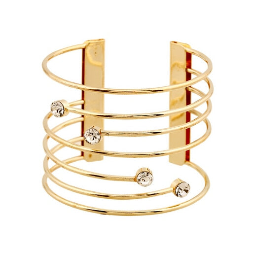 Luxury Crystal Cuff Bangle - Divinesolutions