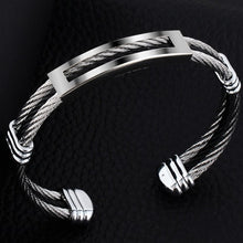 Unisex stainless steel twisted cuff bracelet - Divinesolutions