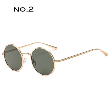 Metal Round Sunglasses Designer inspired Small Frame UV400 Female - Divinesolutions