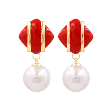 New Simulated pearl Drop Earrings - Divinesolutions