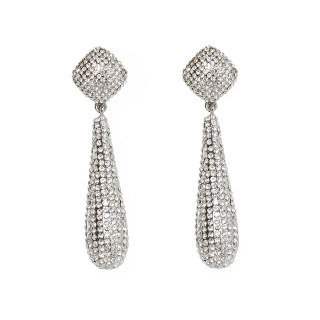 New Design Rhinestone Water Drop Earrings - Divinesolutions