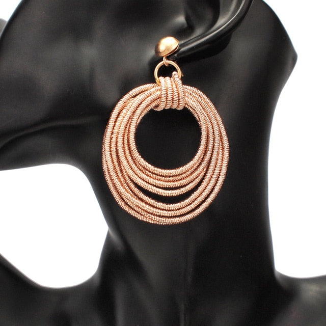 Carina Multilayered Round Earrings - Divinesolutions