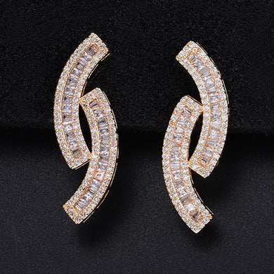 Unique Design Full Mirco Zirconia Earring - Divinesolutions