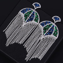 Luxury Trendy Umbrella Green/Blue Long Tassel - Divinesolutions