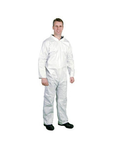 (25/Case)  Disposable PROMAX Coveralls Zip Front, Open Wrists & Ankles -Similar to Tyvek