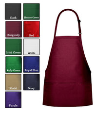 (6/Case) 3 Pocket Bib Apron