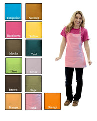 (6/Case) 3 Pocket Bib Apron - Designer Colors