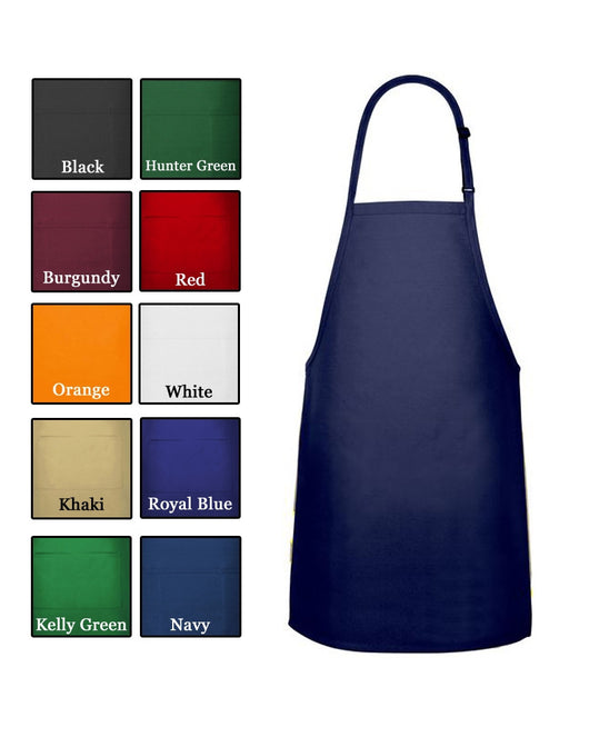 (6/Case) No Pocket Bib Apron