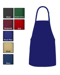 (6/Case) 2 Separate Patch Pocket Bib Apron