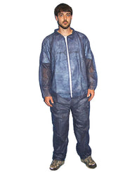 (25/Case) Polylite Blue Disposable Coveralls