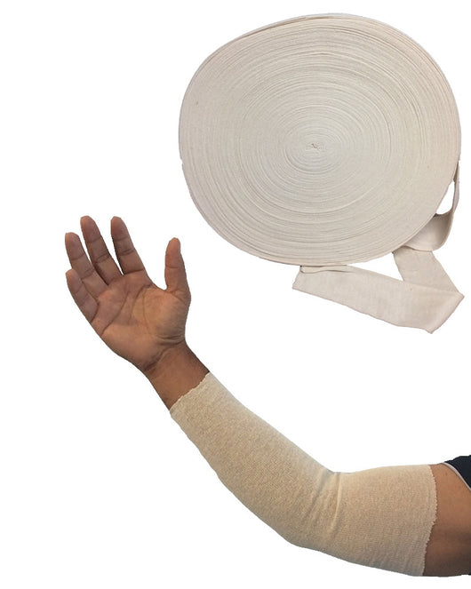 Cut Your Own Medical Splint/Cast Cotton Stockinette Tube Sleeve 100 Yard Roll
