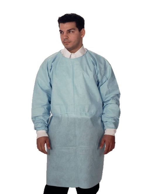 Dual Fabric Disposable Blue Isolation Gowns