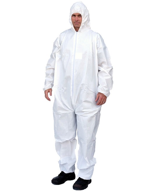 (25/Case) Suntech Disposable Coveralls with Hood, Elastic Wrists & Ankles  -Similar to Tyvek