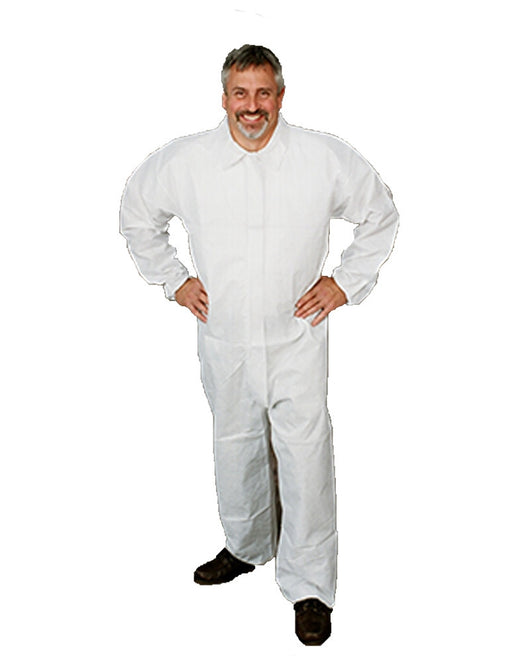 (25/Case) LiquidGuard Disposable Coveralls with elastic wrists & Ankles - Similar to Tyvek