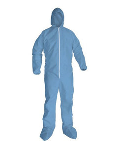 (25/Case) PyroMax Flame Retardant Disposable Coveralls Attached Hood & Boots with Elastic Wrists