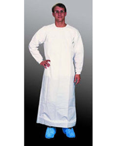 (30/Case) Heavy Duty Extra Long White Barrier Gown