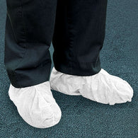 (1000/Case) White Disposable Shoe & Boot Covers .055 mm