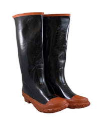 Plain Toe Rubber Winter Rain Slush Boots
