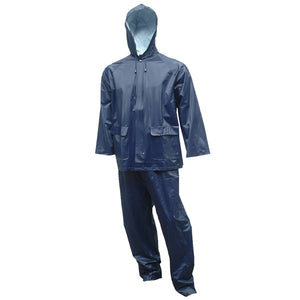 Tingley 10 Mil (.25MM) Navy Blue 2 Piece Rain Suit