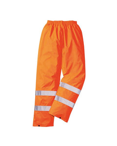 Class 1 ANSI/ISEA 107 Hi-Vis Orange Rain Pants
