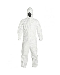 (25/Case)  Disposable PROMAX Coveralls With Hood, Zip Front, Elastic Wrists & Ankles -Similar to Tyvek