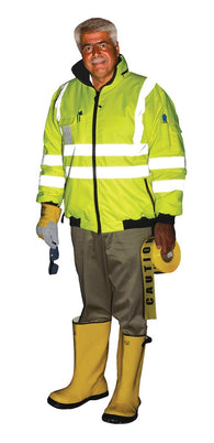Class 3 ANSI High Visibility Polar Bomber Jacket
