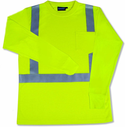 Class 2 ANSI/ISEA 107 High Visibility Men's Long Sleeve T-Shirt