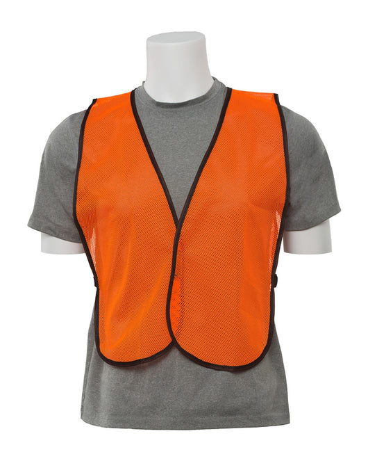 Non ANSI Economy High Visibility Orange Mesh Safety Traffic Vests