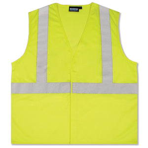 Class 2 Hi-Viz Lime Mesh Economy Safety Vests