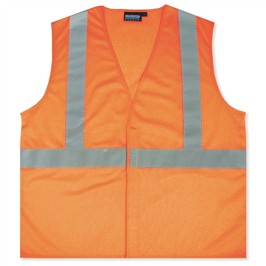 Class 2 Hi-Viz Orange Mesh Economy Safety Vests