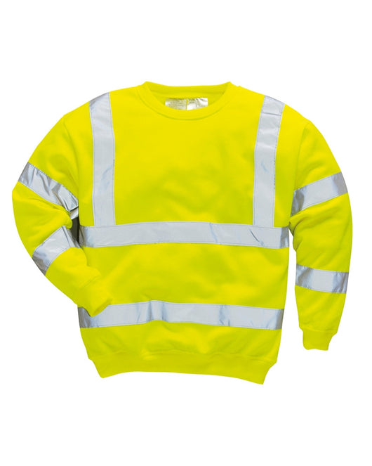 Class 3 Portwest Heavy Weight Yellow Hi-Vis Sweatshirt