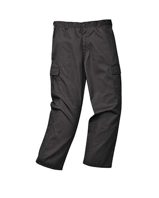 Portwest Black Cargo Pants Tall