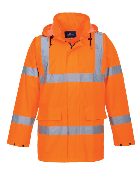 Class 3 Portwest Orange Hi-Vis Lite Traffic Jacket