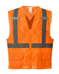 (6/Case) Class 2 Portwest Orange Atlanta Mesh Vest