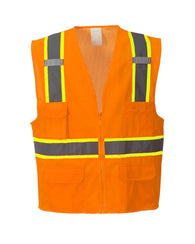 (3/Case) Class 2 Portwest Orange Jackson Hi-Vis Executive Vest