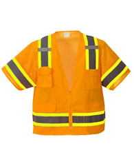 (3/Case) Class 3 Portwest Orange Aurora Sleeved Hi-Vis Vest