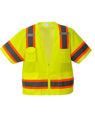 (3/Case) Class 3 Portwest Yellow Aurora Sleeved Hi-Vis Vest