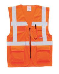 (3/Case) Class 2 Portwest Orange Berlin Executive Vest