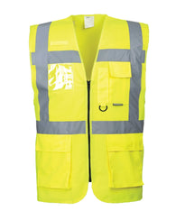 (3/Case) Class 2 Portwest Yellow Berlin Executive Vest