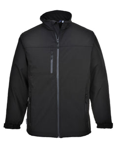 Portwest Black 3 Layer Laminated Softshell Jackets
