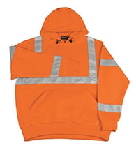 Class 3 ANSI/ISEA 107 Hi Vis Orange Pullover Sweatshirt